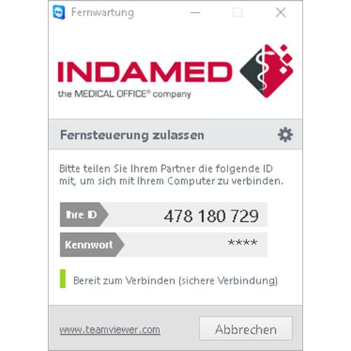Arztsoftware MEDICAL OFFICE Hilfe per Fernwartung